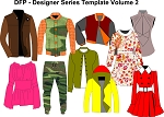 7bd- Designer Series Templates Volume 2 - Womens Wear and Menswear. Electronic Item.